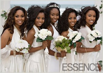 Neosha with Bridesmaids