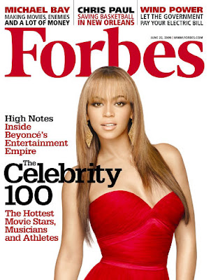 bey+forbes Beyonce Covers Forbes; Earnings Double Jay Zs