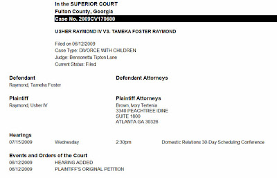 tameka Confirmed: Usher & Tameka Divorce (See Court Filing)