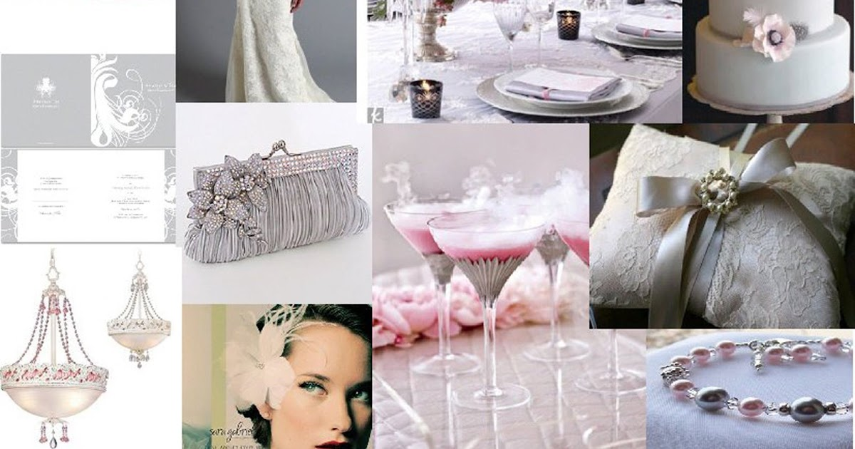 Event Confetti Inspiration Board Vintage Pink And Grey