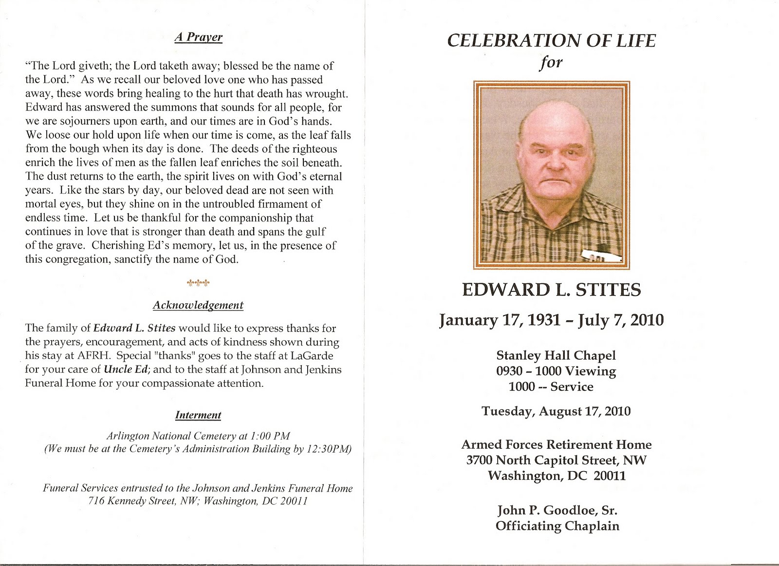 Funeral Program Design – Free Printable Obituary Program Template