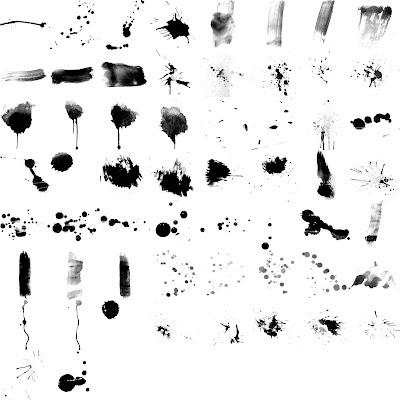 Pinceles salpicaduras de pintura photoshop identi - Salpicaduras de pintura ...