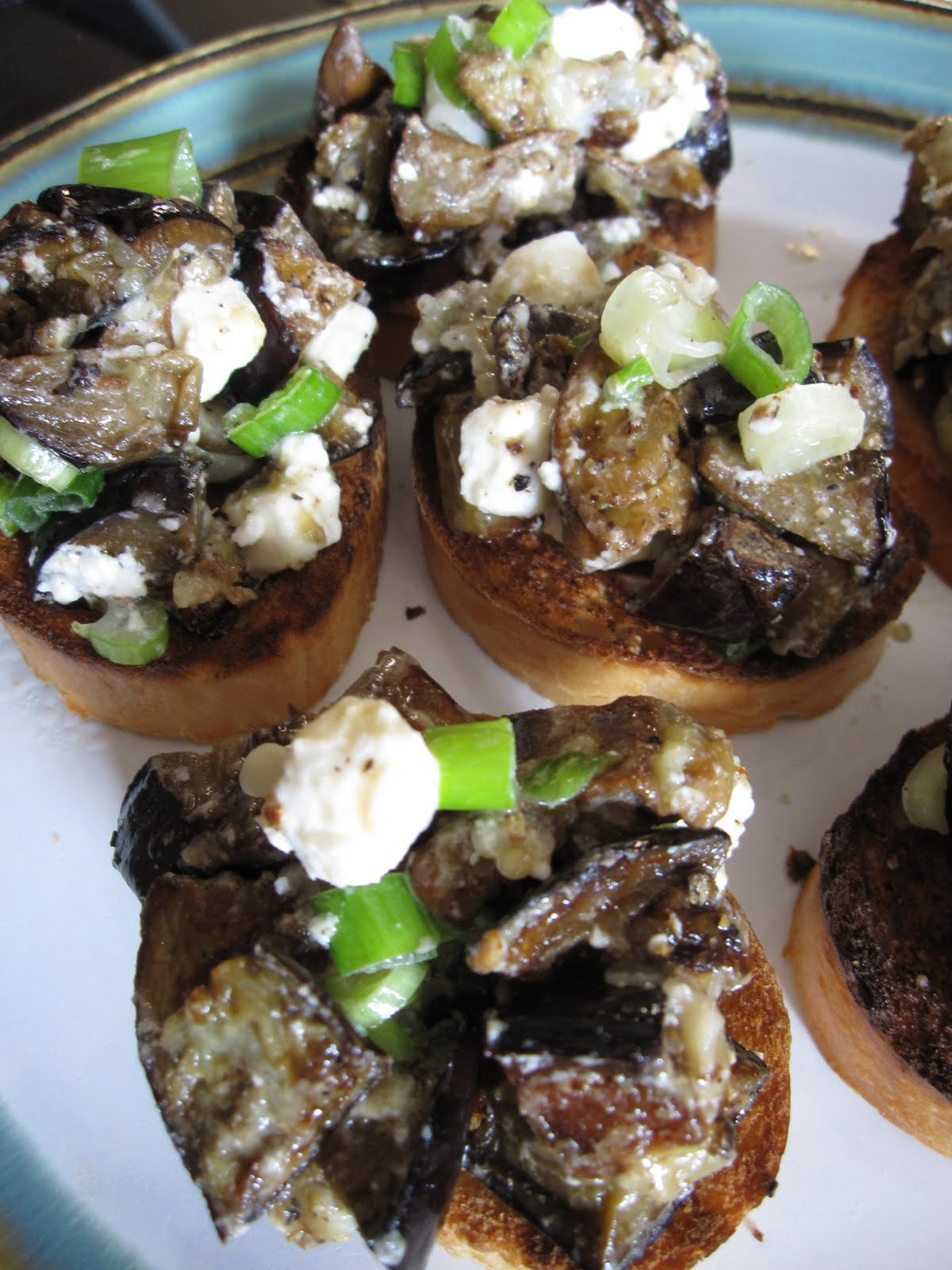 Cookin' & Craftin': Eggplant Feta Salad Toasts