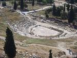 The Theater of Dionysus is said to be the place where Greek tragedy began.