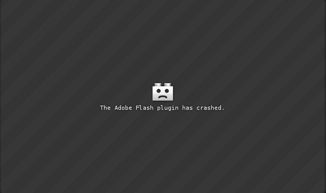 Adobe Flash Plugin Crashing