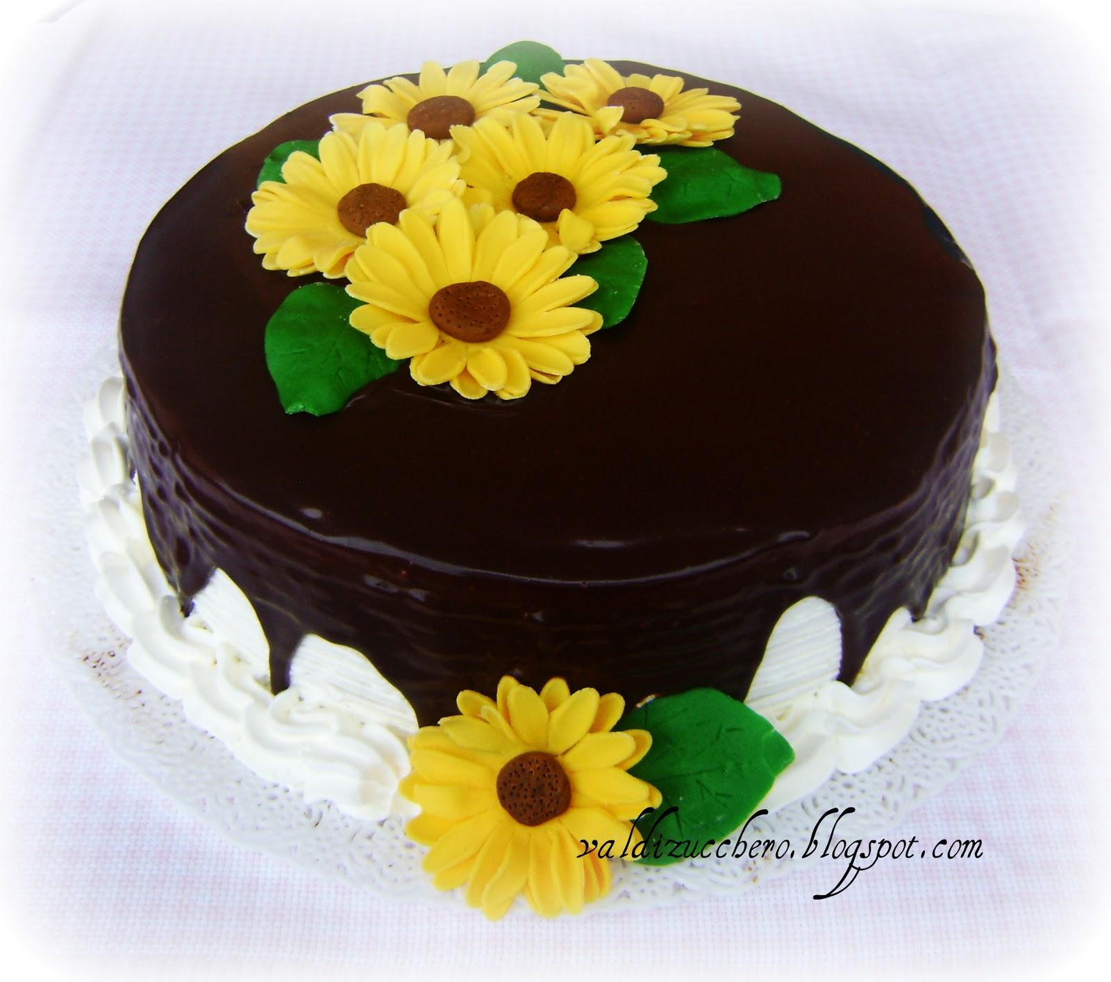 Torta Matrimonio Girasoli : Val di zucchero torta girasoli