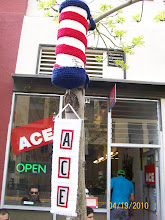 Ace Barber Pole / Yarn Bombing