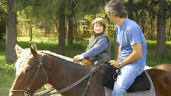 Con papá a caballo