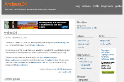 Andreas 4 blogger template