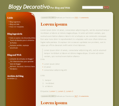 decorativo blogger template