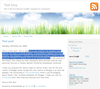 erudite blogger template