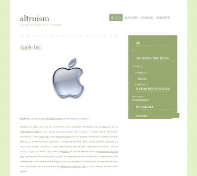 altruism blogger template
