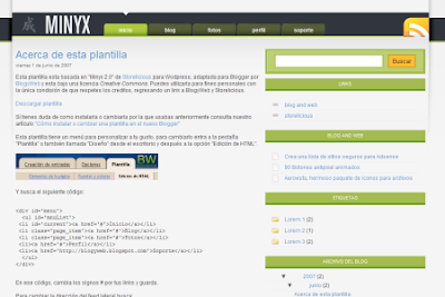 Minyx blogger template