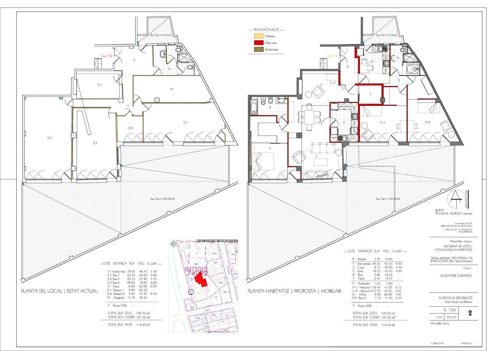 Cambio de uso local a vivienda canvi d 39 us a vivenda - Licencia de habitabilidad ...