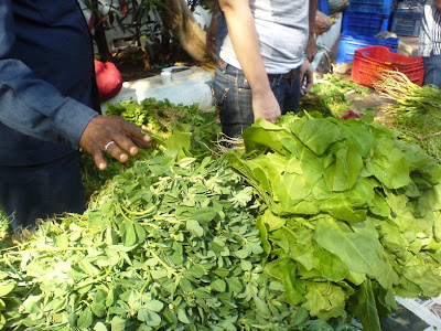 This Week at the Farmer's Market - Spinach and other greens