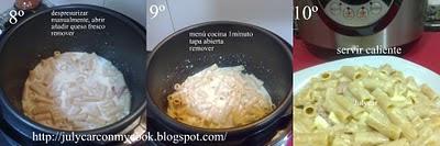 Macarrones de fibra a la carbonara olla GM D Macarones+carbo