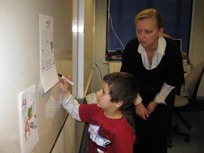 Светлана с учеником младшей группы