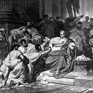 was brutus justified in killing caesar There is a conspiracy to kill caesar for his ambition brutus is wary: brutus into  what dangers would you lead me cassius just then a great cheer comes from  the.