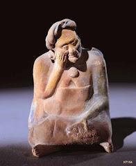 Elderly Maya woman depresed.