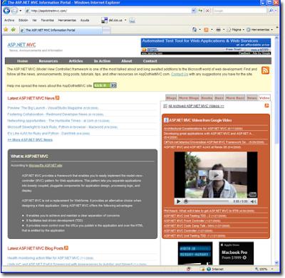 Visitar el portal ASP.NET MVC