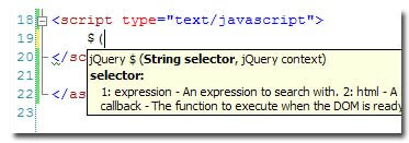 jQuery + Intellisense!