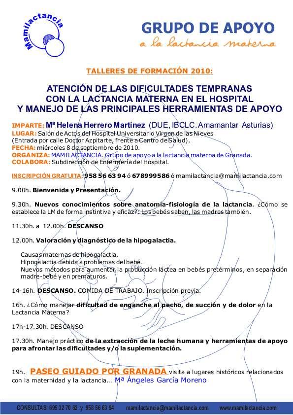 TALLER FORMACIÓN EN LACTANCIA MATERNA con HELENA HERRERO - Mamilactancia