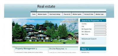 Free photoshop psd web template real estatetemplate design maxwellsz