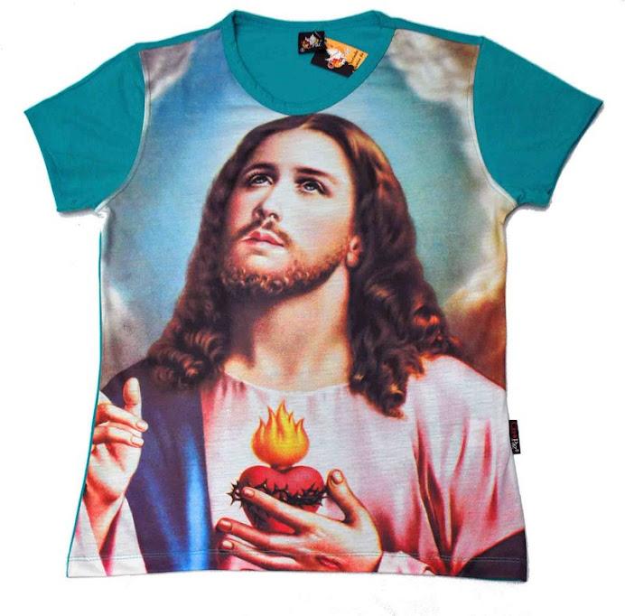 Babylook Sagrado Coração de Jesus