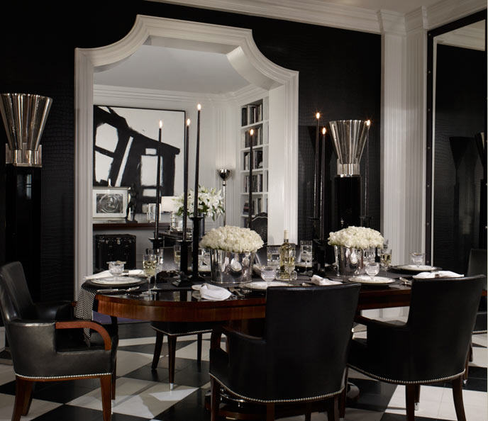 Ralph Lauren Black Dining Room