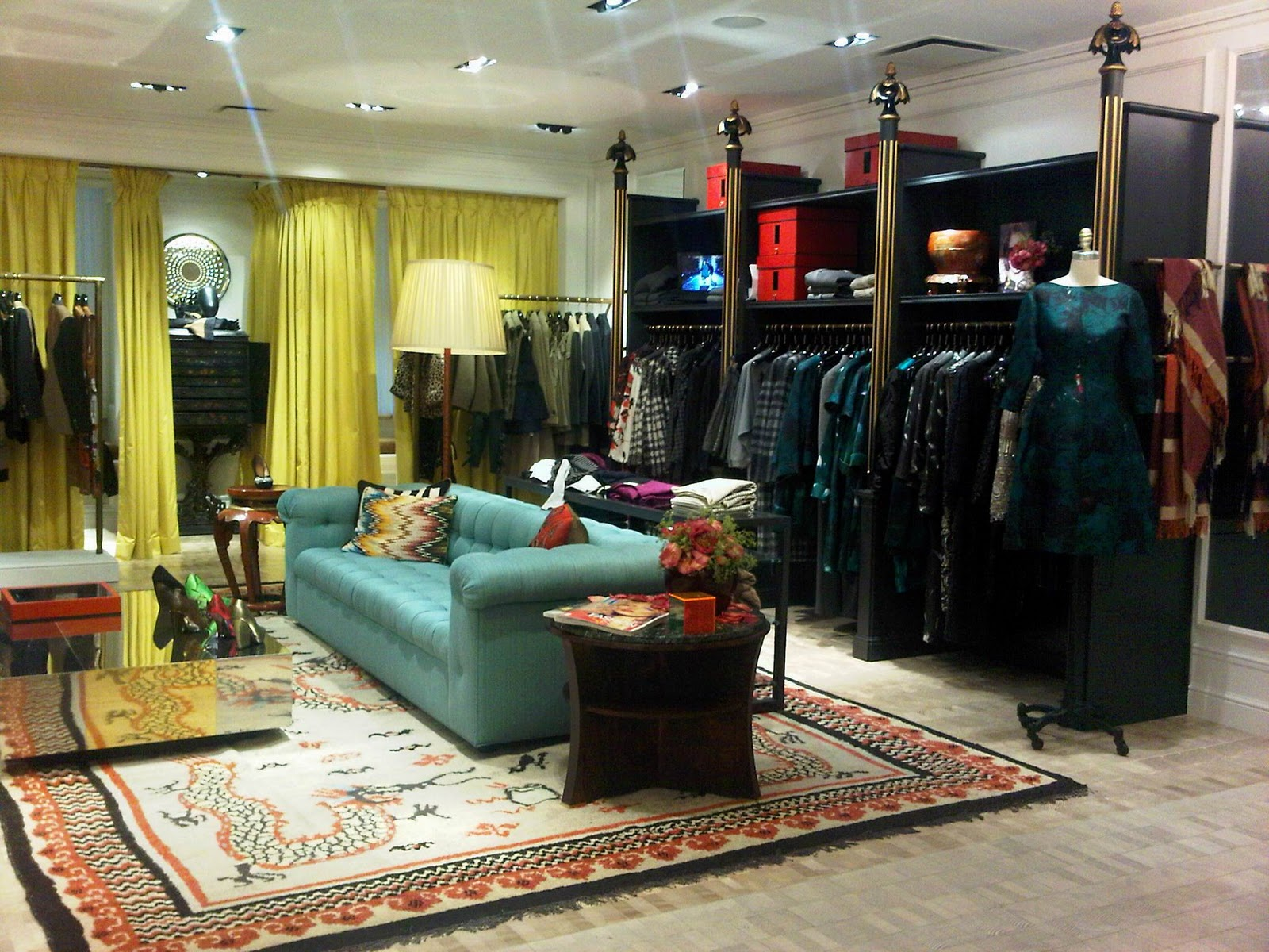 Dries van noten at bergdorfs ellegant home design for Boutique interior design