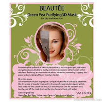 Beautee 3D Green Pea Peel Off Rubber Mask
