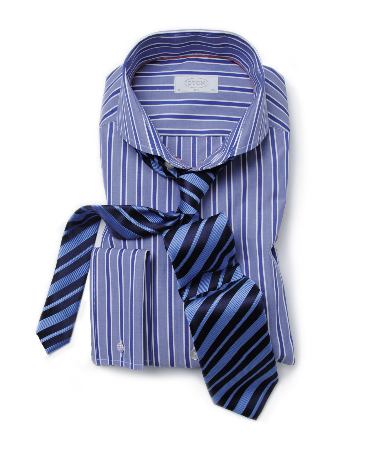 Men 39 s styling shirt and tie the classic look for Striped shirt with tie