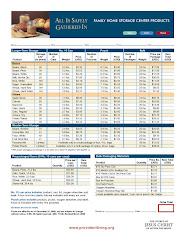 LDS Dry Pack Cannery Current Price List