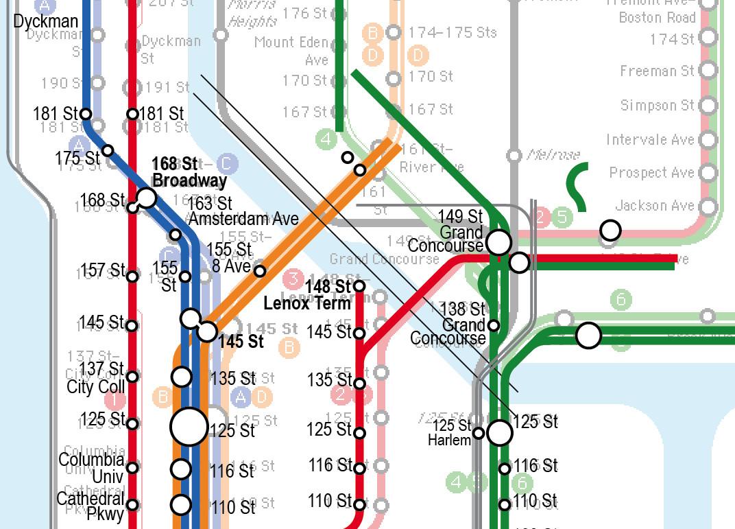 4 Train Subway Map