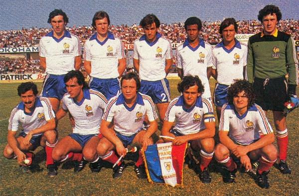 Foot retro 1980 equipe de france france chypre 7 0 - Coupe du monde de foot 1982 ...