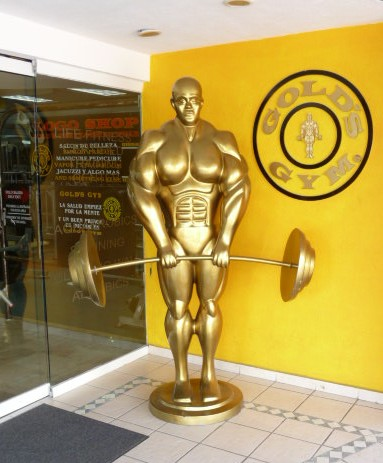 goldsgymstatue Gold's Gym has long marketed