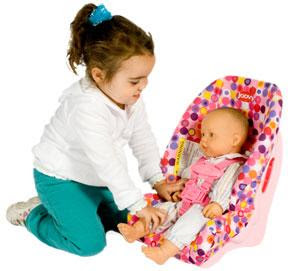Joovy Toy Booster Seat For Dolls Teaches Car Safety