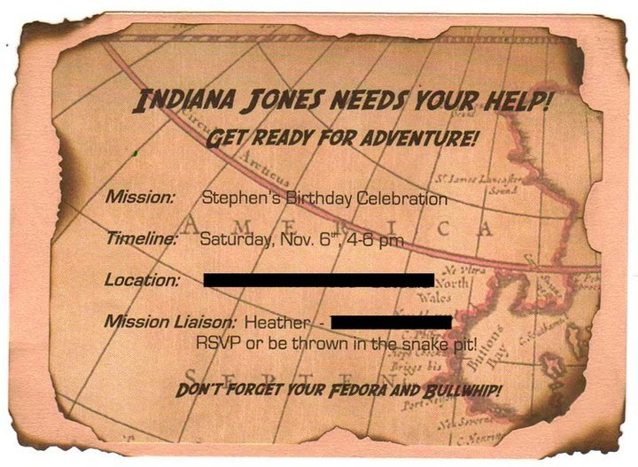 LuluBelles Couture An Indiana Jones themed birthday party – Indiana Jones Party Invitations
