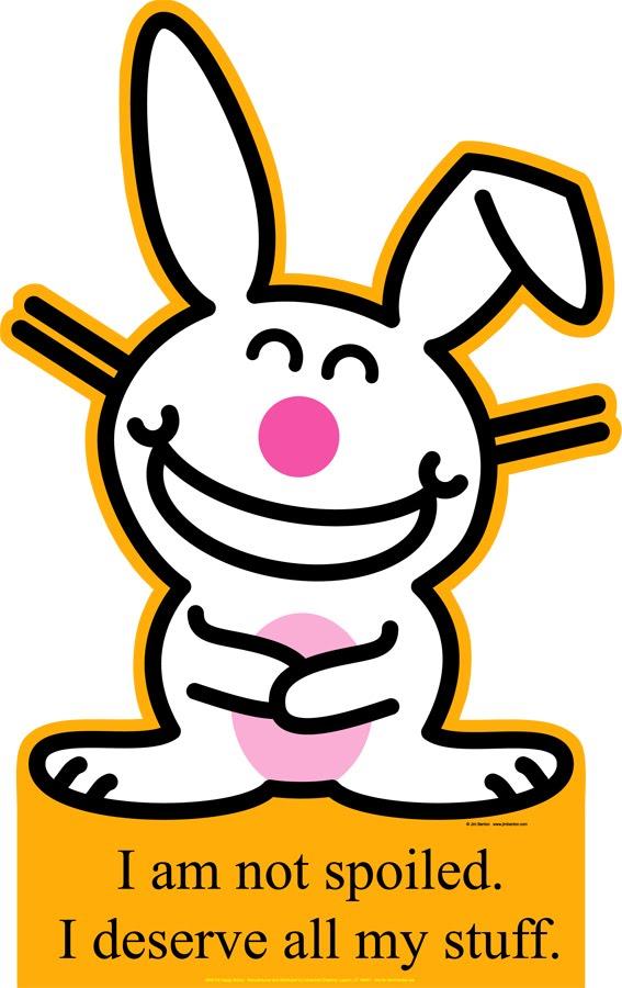 funny bunny. funny bunny. happy bunny