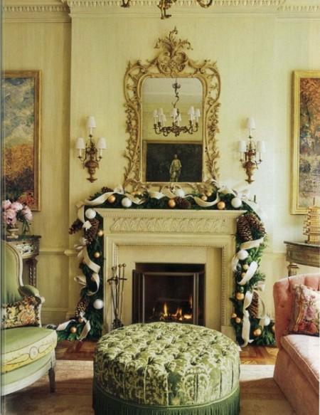 revista populares Chimeneas decoradas para navidad