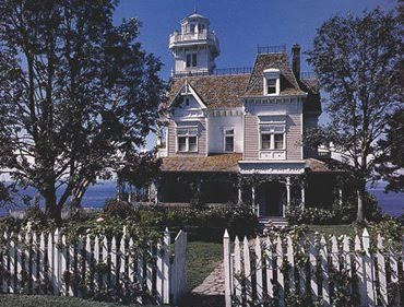 victorian home widows peak over ocean