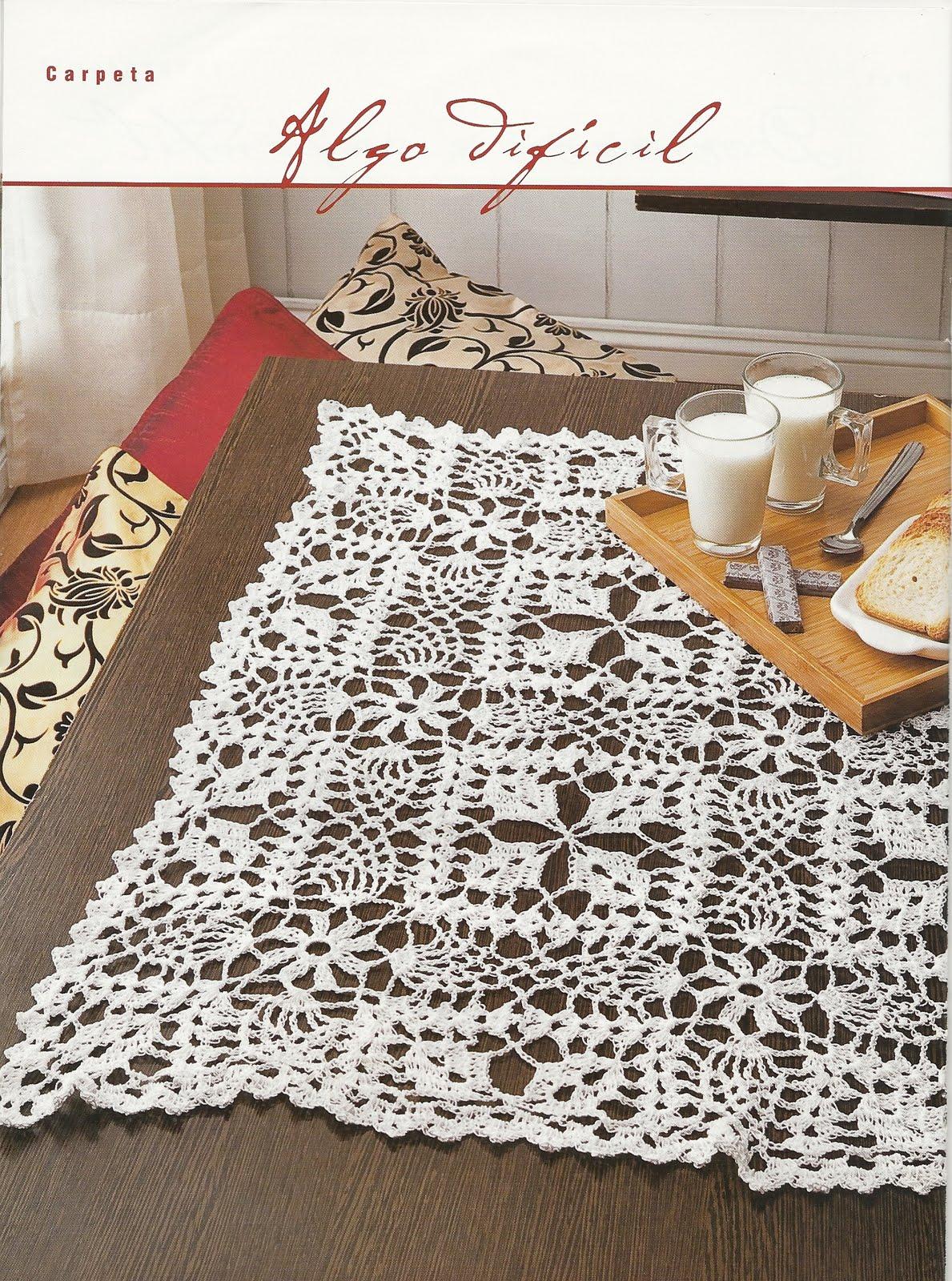 Carpetas cuadradas tejidas al crochet