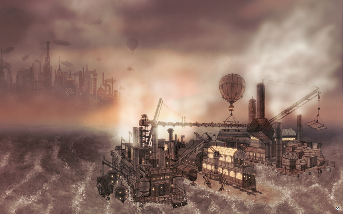 steampunk landscape by nessdu - photo #9