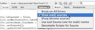 script options menu