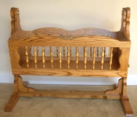 Wooden Baby Cradle | Free Woodworking Project Plans