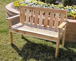 Garden Bench Free Woodworking Project Plans