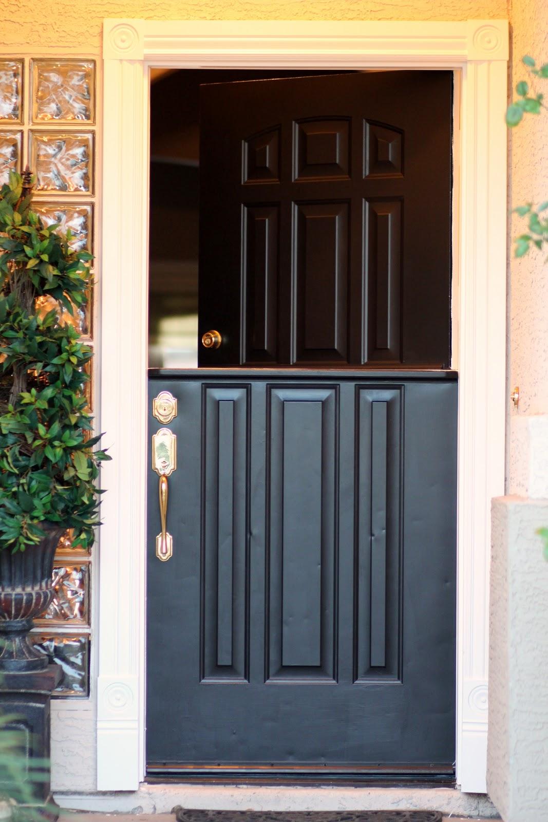 Diy Exterior Dutch Door Gardenview Cottage How To Make A Dutch Door