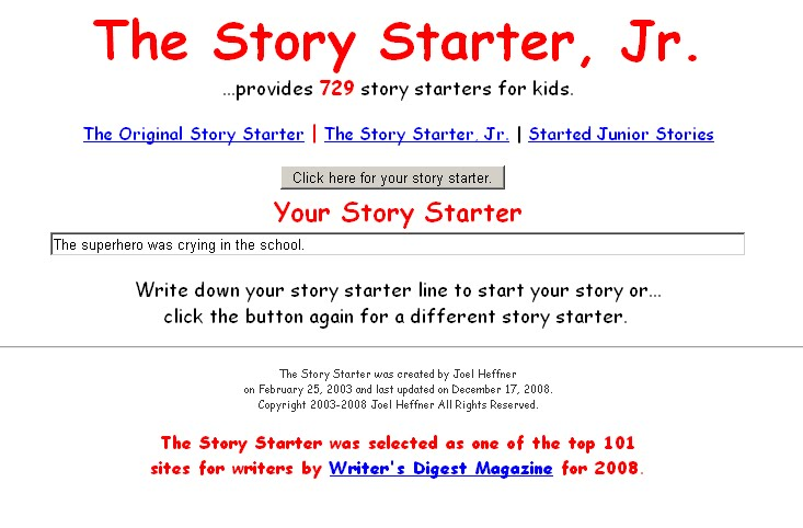 how to start a sentence in a story