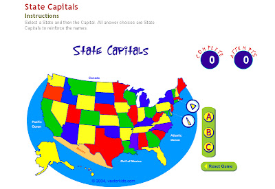 Technology Rocks Seriously States And Capitals - Map of the us states and capitals