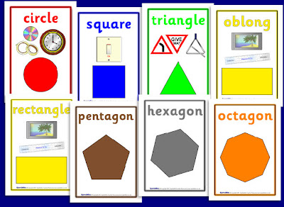 Printable Shapes Poster 2d Shape Posters